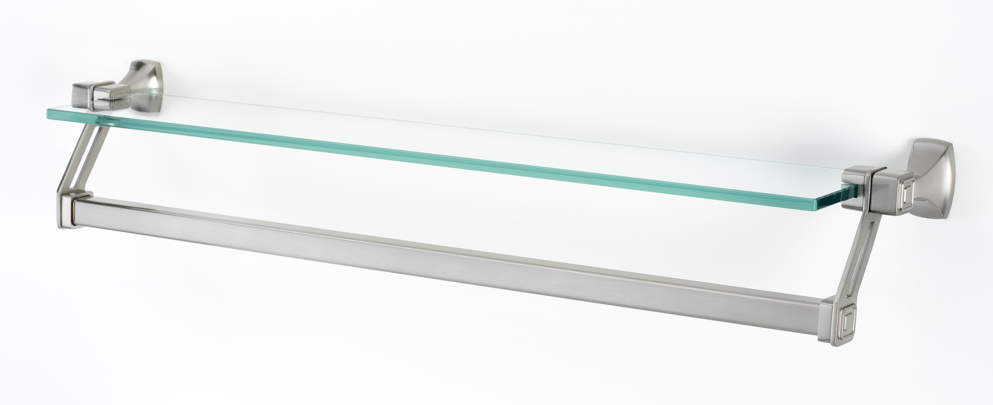 Cube Gl Shelf With Towel Bar A6527 25
